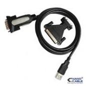 CONVERTIDOR USB A SERIE A/M-RS232 DB9/M DB25