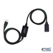 CABLE PROLONGACION USB A/M-A/F 10MTS - Inside-Pc