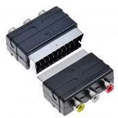 Adaptador Euroconector SCART/RCA - Inside-Pc