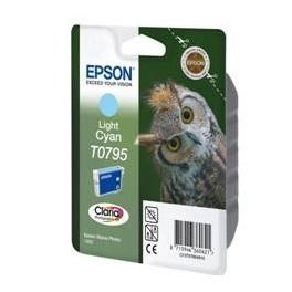 CARTUCHO TINTA EPSON T079540 CIAN CLARO 11.1ML STYLUS PHOTO 1400 - Inside-Pc