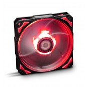 VENTILADOR 120X120 NOX HFAN 120 LED ROJO - Inside-Pc