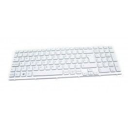 Repuesto Sony. Teclado Sony SVE 15 Series Blanco - Inside-Pc