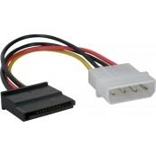 Cable Corriente Adaptador Molex a SATA - Inside-Pc