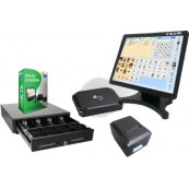 Touch POS Kit Led 15 + W10 + Software Itactil + Cashdrawer + Ticket Printer - Inside-Pc
