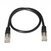 CABLE RED LATIGUILLO RJ45 CAT.5E UTP AWG24 NEGRO 1M - Inside-Pc
