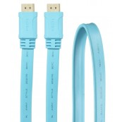 CABLE HDMI V1.4 PLANO 1.8M 24K CELESTE 3GO - Inside-Pc
