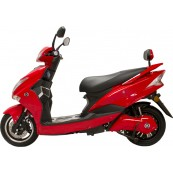 Electric Motorcycle Hawk 49e Homologated 1800W - 40AH Red - Inside-Pc