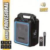 """Altavoz Autoamplificado PRO200 6.5"""" 200W con Bateria + MICROFONO PRO COOLSOUND - Inside-Pc"""
