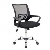 Silla Oficina OF300 Negro MUVIP - Inside-Pc