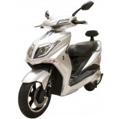 Electric Motorcycle Hawk 49e Homologated 1800W - 20AH Silver - Inside-Pc