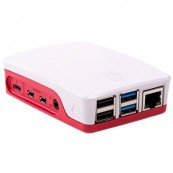 CAJA OFICIAL RASPBERRY PI 4 ROJO - BLANCO - Inside-Pc