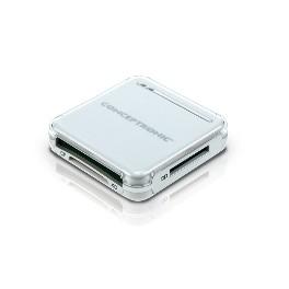 LECTOR TARJETAS MEMORIA CONCEPTRONIC USB EXTERNO PLATA Inside-Pc