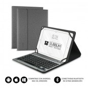 "FUNDA CON TECLADO SUBBLIM KEYTAB PRO BLUETOOTH GRIS - TABLET DE 10.1"" - Inside-Pc"