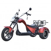 Electric Motorcycle CityCoco Cobra S3 49e Homologated 4000W - 48AH Dual - Double Motor - Double Battery - Red - Inside-Pc