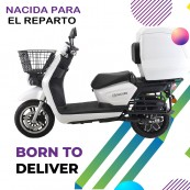 Electric MotorCycle Sunra Cargoo 49e Homologated Dual Baterry 3000W - 40AH White - Inside-Pc