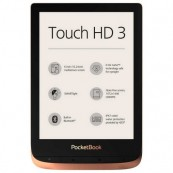 "LECTOR EBOOK LIBRO ELECTRONICO POCKETBOOK TOUCH HD3 - E-INK - 6"" TACTIL - IPX7 - WIFI - BT - 16GB COBRE - Inside-Pc"