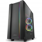 CAJA PC ATX SHARKOON REV220 - USB3.0 - RGB - NEGRA - Inside-Pc