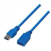 Cable Alargador USB3.0 USB Macho - USB Hembra Aisens A105-0046 - 2m - Azul - Inside-Pc