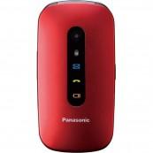 Telefono Movil Panasonic Kx-Tu456exre Especial Mayores Concha Rojo - Inside-Pc