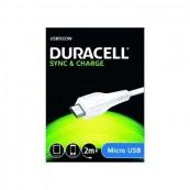 Cable USB2.0 - USB Macho - Micro-USB Macho - 2m - Duracell USB5023W Blanco - Inside-Pc