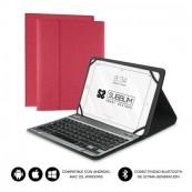 """Funda con Teclado Subblim Keytab Pro Bluetooth para Tablets de 10.1"""" - Roja - Inside-Pc"""
