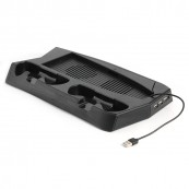 Soporte Vertical Refrigerador Consola + Doble Estacion Carga Mandos PS5 - Inside-Pc