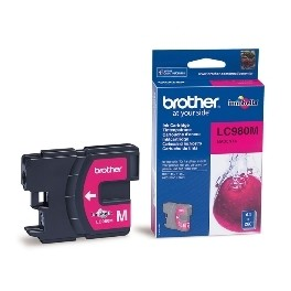 CARTUCHO TINTA BROTHER LC980M MAGENTA 400 PAGINAS DCP-195C/ DCP-375CW/ MFC-250C/ MFC-255CW/ MFC-290C  - Inside-Pc