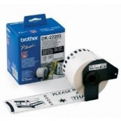 CINTA CONTINUA BROTHER BLANCA DK22205 63MM QL-500A QL-500BW QL-560 QL-570 QL-580N QL-1050   - Inside-Pc