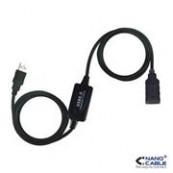 CABLE PROLONGACION USB A/M-A/F 10MTS - Inside-Pc
