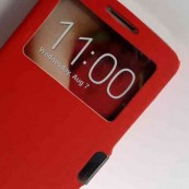 FUNDA FLIP COVER PRIMUX ALPHA 4 ROJA VENTANA - Inside-Pc