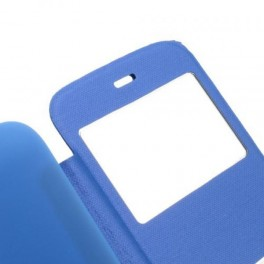 FUNDA FLIP COVER PRIMUX ALPHA 4 AZUL VENTANA - Inside-Pc