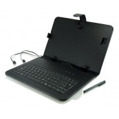 "FUNDA TABLET 9.7"" CON TECLADO USB NEGRA - Inside-Pc"