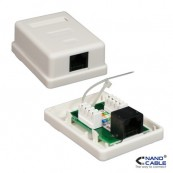 ROSETA DE SUPERFICIE PARA RJ45 CAT.6 NANOCABLE - Inside-Pc