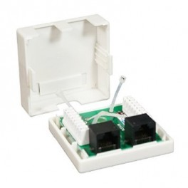 ROSETA SUPERFICIE RJ45 CAT.6 UTP 2TOMAS NANOCABLE - Inside-Pc