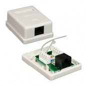 ROSETA SUPERFICIE RJ45 CAT.5 UTP 1TOMA NANOCABLE - Inside-Pc