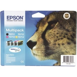 CARTUCHO TINTA ORIGINAL EPSON T0715 MULTIPACK 4 COLORES - Inside-Pc