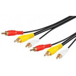 CABLE AUDIO 3X RCA M-M 3M - Inside-Pc