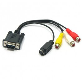 Cable adaptador VGA a RCA S-VIDEO - Inside-Pc