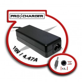 Cargador 19V/4.47A 4.8mm x 1.5 mm 90W Pro Charger - Inside-Pc
