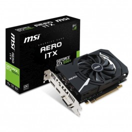 Tarjeta Grafica VGA GEFORCE MSI GTX1050 TI AERO ITX 4GB GDDR5 - Inside-Pc