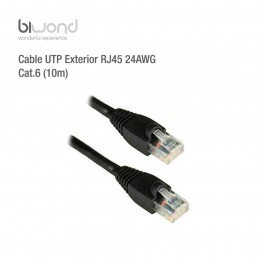 Cable Ethernet UTP Exterior RJ45 24AWG CAT6 (10m) BIWOND - Inside-Pc