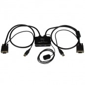 SWITCH CONMUTADOR KVM CABLE CON 2 PUERTOS STARTECH - Inside-Pc
