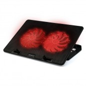 BASE REFRIGERACION PARA Portatil PHOENIX GAMING 2XUSB 2 VENTILADORES HASTA 17.4'' NEGRO LED ROJOS  - Inside-Pc