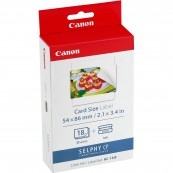 MULTIPACK CANON KC-18IF CARTUCHO TINTA COLOR + PAPEL FOTOGRÁFICO 54X86MM - Inside-Pc