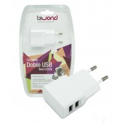UNIVERSAL DOUBLE USB WALL CHARGER 5V 2A - 1A BIWOND - Inside-Pc