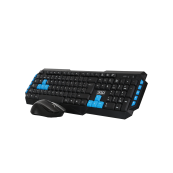 WIRELESS Keyboard + Mouse MULTIMEDIA 3GO COMBODRILE BLACK - Inside-Pc