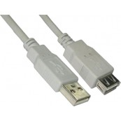 CABLE USB2.0 USB-A - USB-A BEIGE 1M NANOCABLE - Inside-Pc