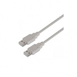 CABLE USB MACHO USB-A - USB-A AISENS 2M GRIS - Inside-Pc
