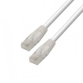 CABLE RED ETHERNET UTP CAT5E RJ45 AISENS 1M BLANCO - Inside-Pc