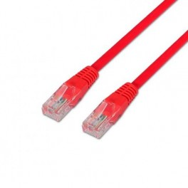 CABLE RED ETHERNET UTP CAT6 RJ45 AISENS 1M ROJO - Inside-Pc